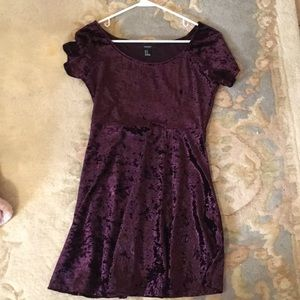 Medium purple velvet dress